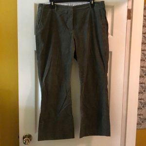 Corduroy pants by Land's End olive green 14 petite
